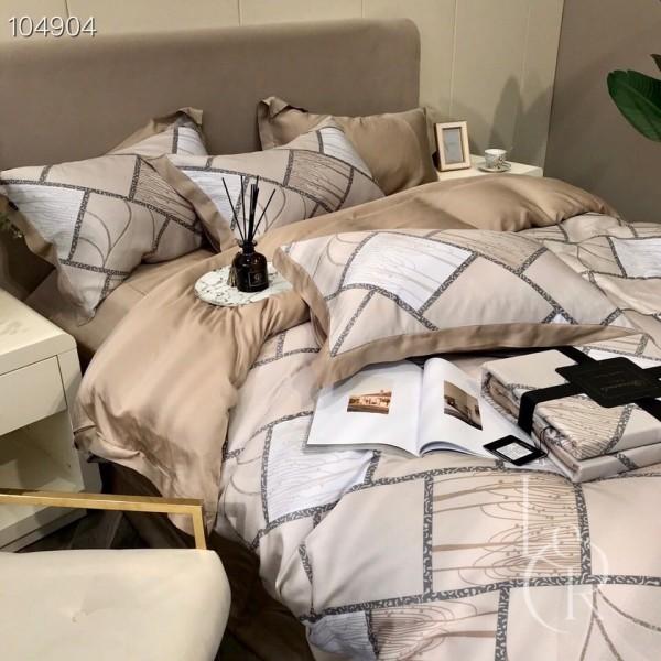 Песочно-кремовый комплект постельного из тенселя Осенние деревья