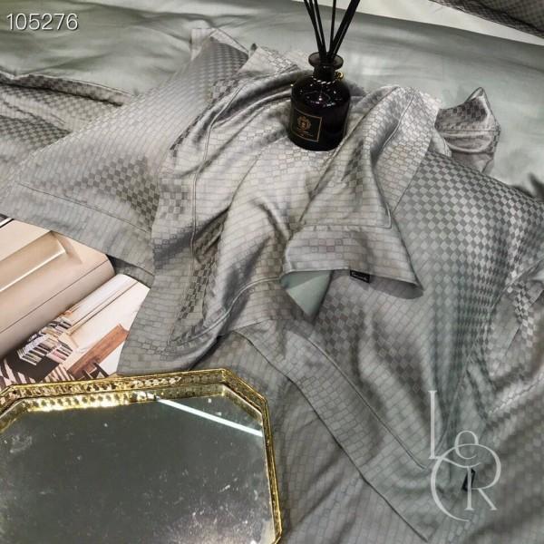 Тенсель с жаккардовым узором «в лапку» Бледно-васильковый