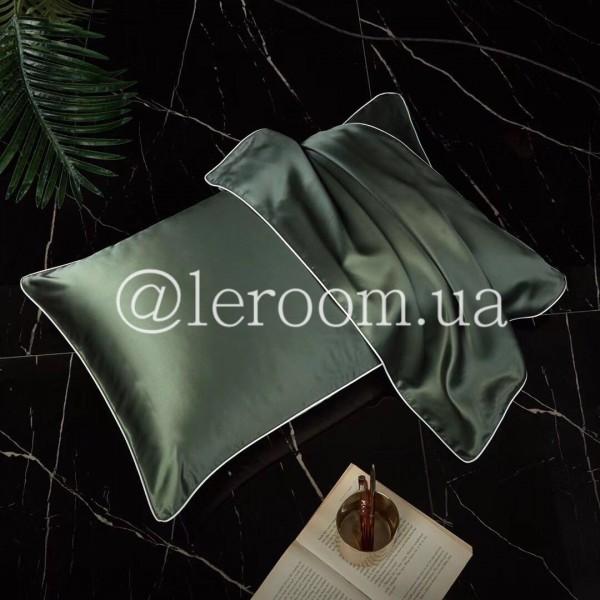 Наволочка шелк однотонная Зеленый (2шт)