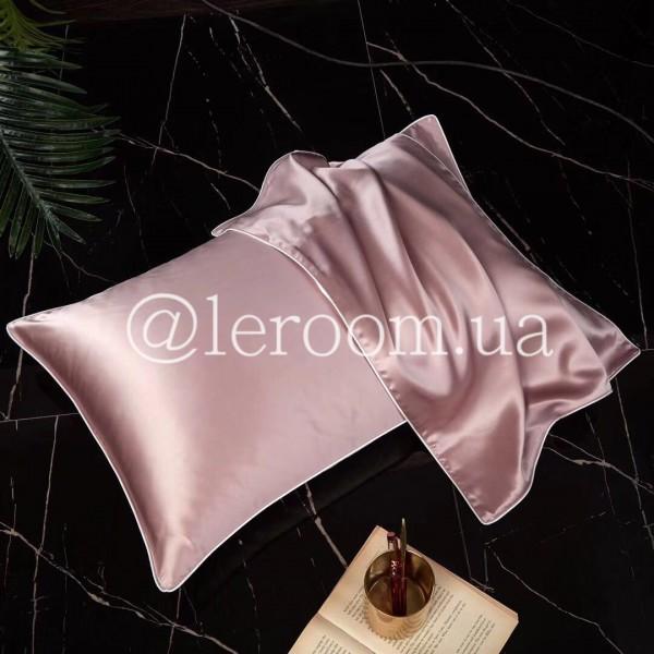 Наволочка шелк однотонная Розовый (2шт)