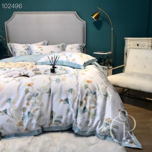 Тенсел (Евкаліптове волокно) Біло-блакитна акварель