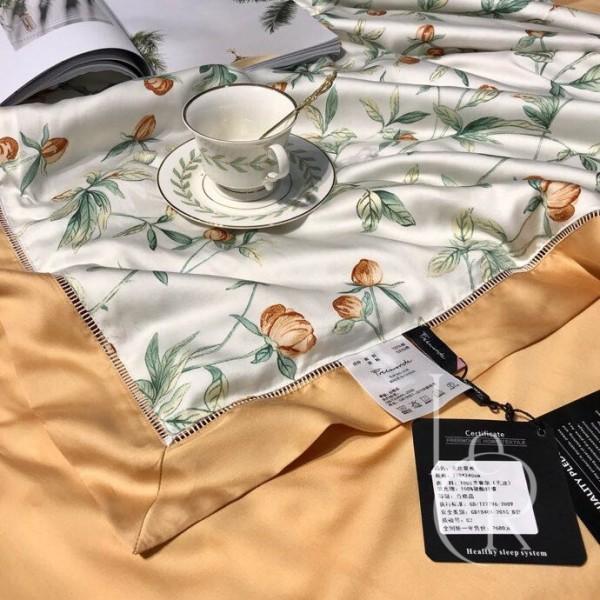 Летнее одеяло Тенсель (Эвкалипт) Оранжевое