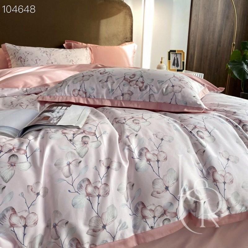 Египетский хлопок Розовый с цветочным плетением