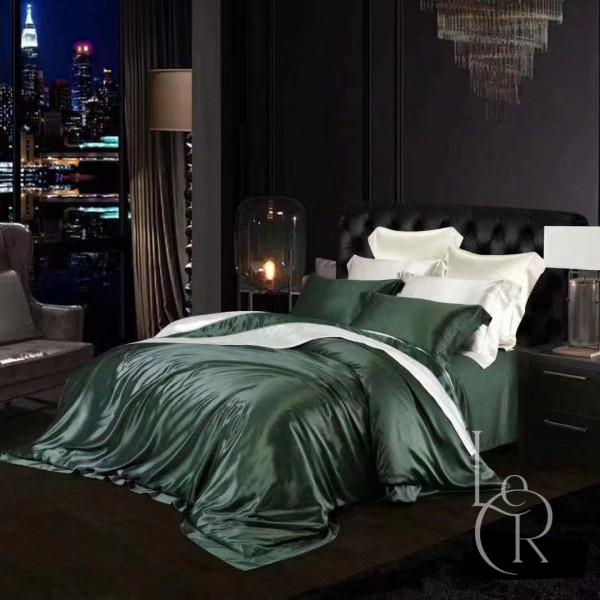 Комплект постельного из шелка Винтовочный зеленый