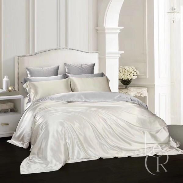 Комплект постельного из шелка Снежно-белый