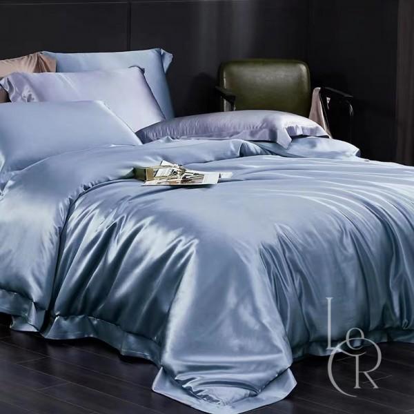 Комплект постельного из шелка Синий сапфир