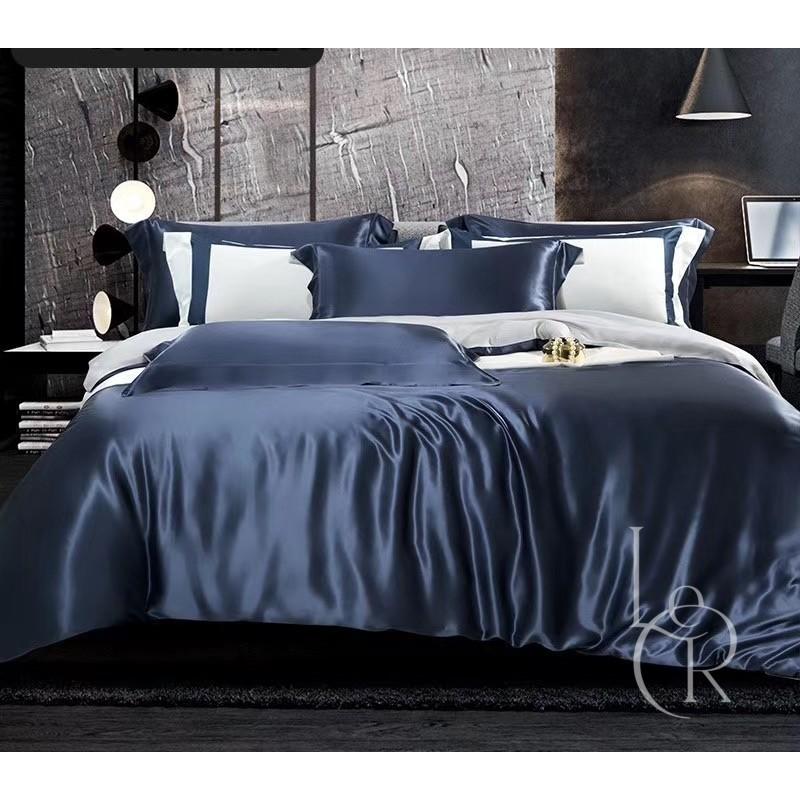 Комплект постельного из шелка Оперный синий