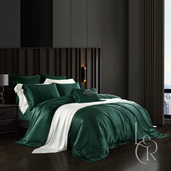 Комплект постельного из шелка Зеленый плющ