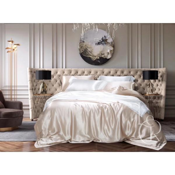 Комплект постельного из шелка Белый антик