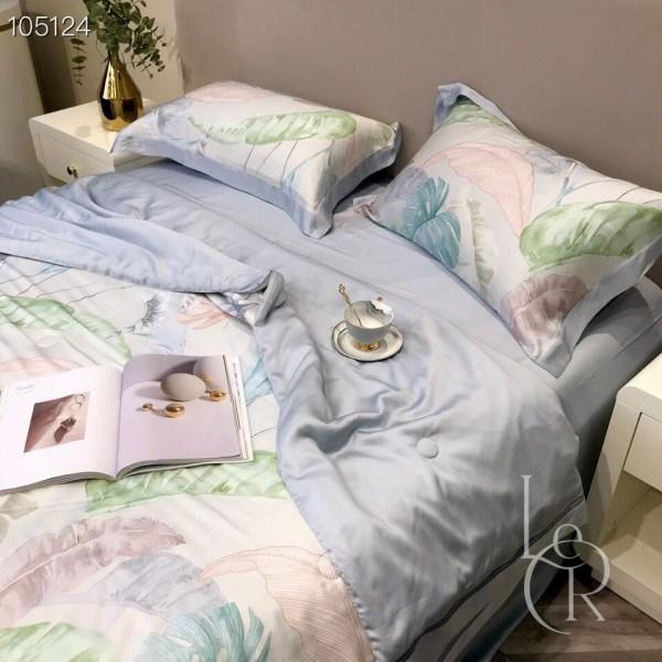 Пепельно-белое одеяло из тенселя Монстера