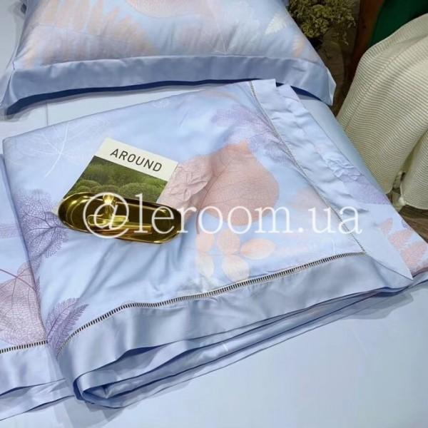 Летнее одеяло Тенсель (Эвкалипт) Голубое + комплект