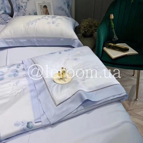 Летнее одеяло Тенсель (Эвкалипт) Нежно голубое + комплект