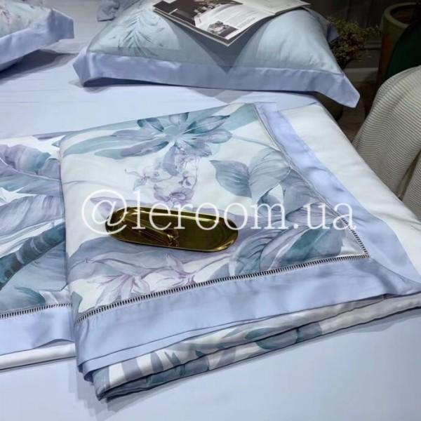 Летнее одеяло Тенсель (Эвкалипт) Пальмовые листья + комплект