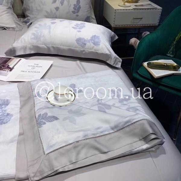 Летнее одеяло Тенсель (Эвкалипт) Серо-голубое + комплект