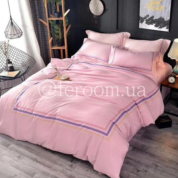 Тенсел (Эвкалиптовое волокно) Розовый с полосочками