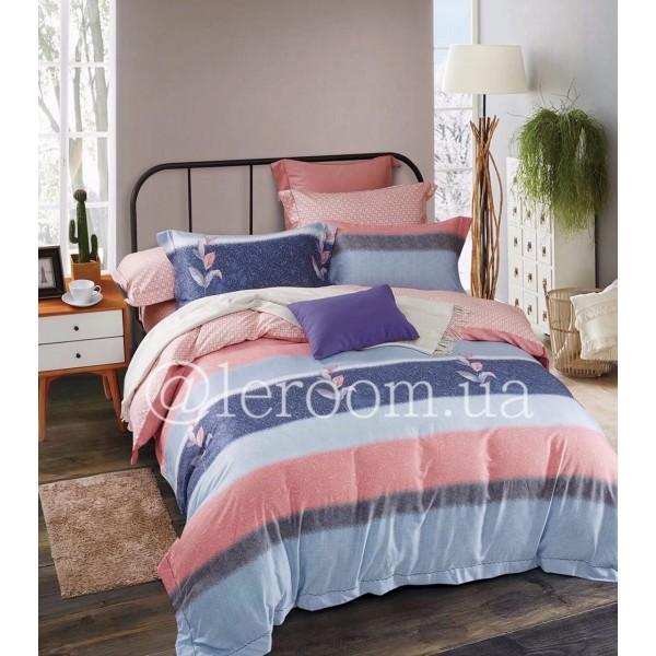 Тенсел (Эвкалиптовое волокно) Розовый с голубым