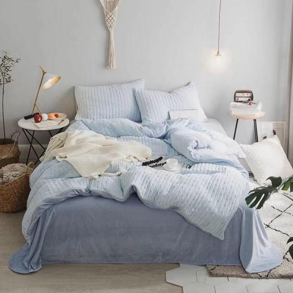 Велюровый зимний комплект Голубой