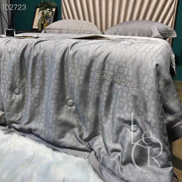 Летнее одеяло Тенсель-Жаккард (Эвкалипт) Серое + комплект