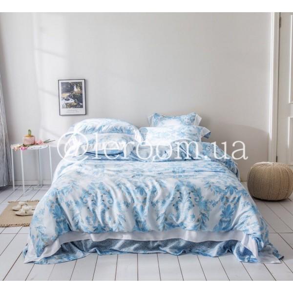Тенсел (Эвкалиптовое волокно) Ярко-голубой с восточным мотивом