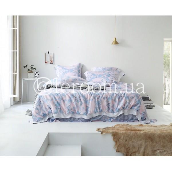 Тенсел (Эвкалиптовое волокно) Розово-голубой с орнаментом
