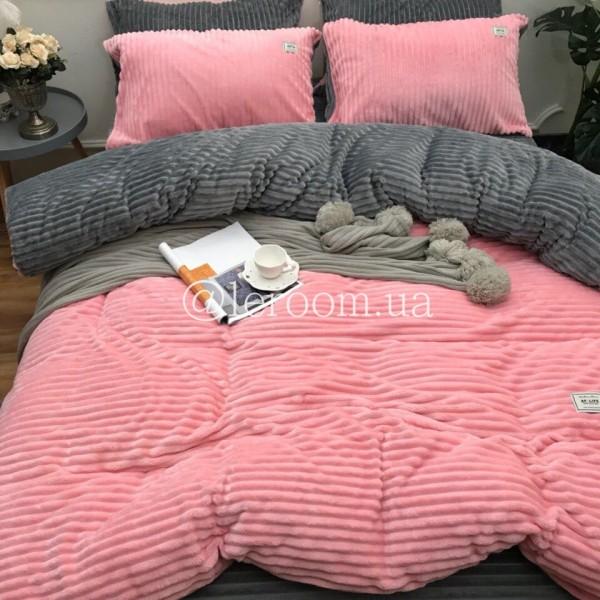 Велюровый зимний комплект Розовый