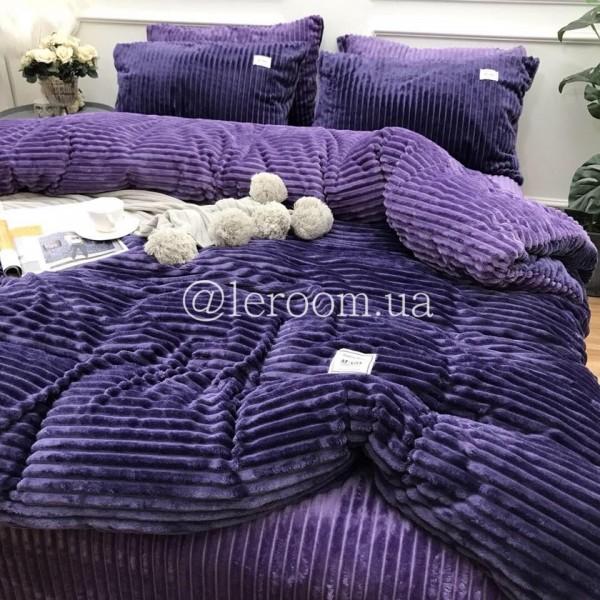 Велюровый зимний комплект Фиолетовый